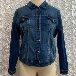 Torrid | Distressed Denim Jacket Medium Wash